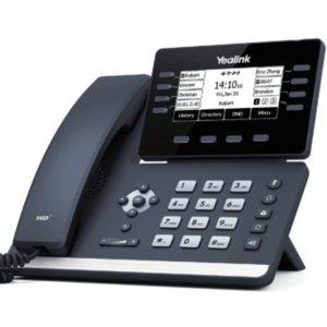 téléphone IP pour entreprise Yealink SIP-T53W : 12 comptes SIP, écran LCD 3,7 pouces, un port USB et Bluetooth