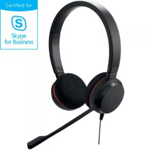 Jabra Evolve 20 Stereo (UC / MS) : un micro-casque filaire UC optimisé pour Microsoft Skype For Business.