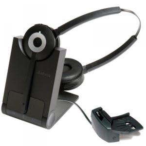 Jabra Pro 920 Duo : Casque sans fil pour téléphone fixe avec micro antibruit à 2 écouteurs