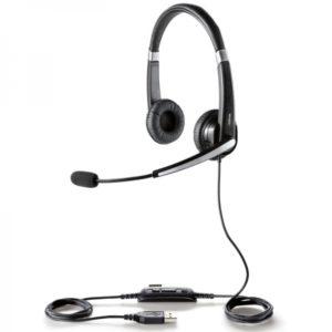 Jabra UC VOICE 550 DUO, micro-casque USB professionnel conçu pour les utilisateurs avertis.