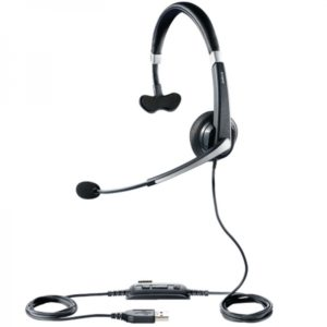 Jabra UC VOICE 550 MS Mono, micro-casque USB professionnel optimisé Skype For Business.